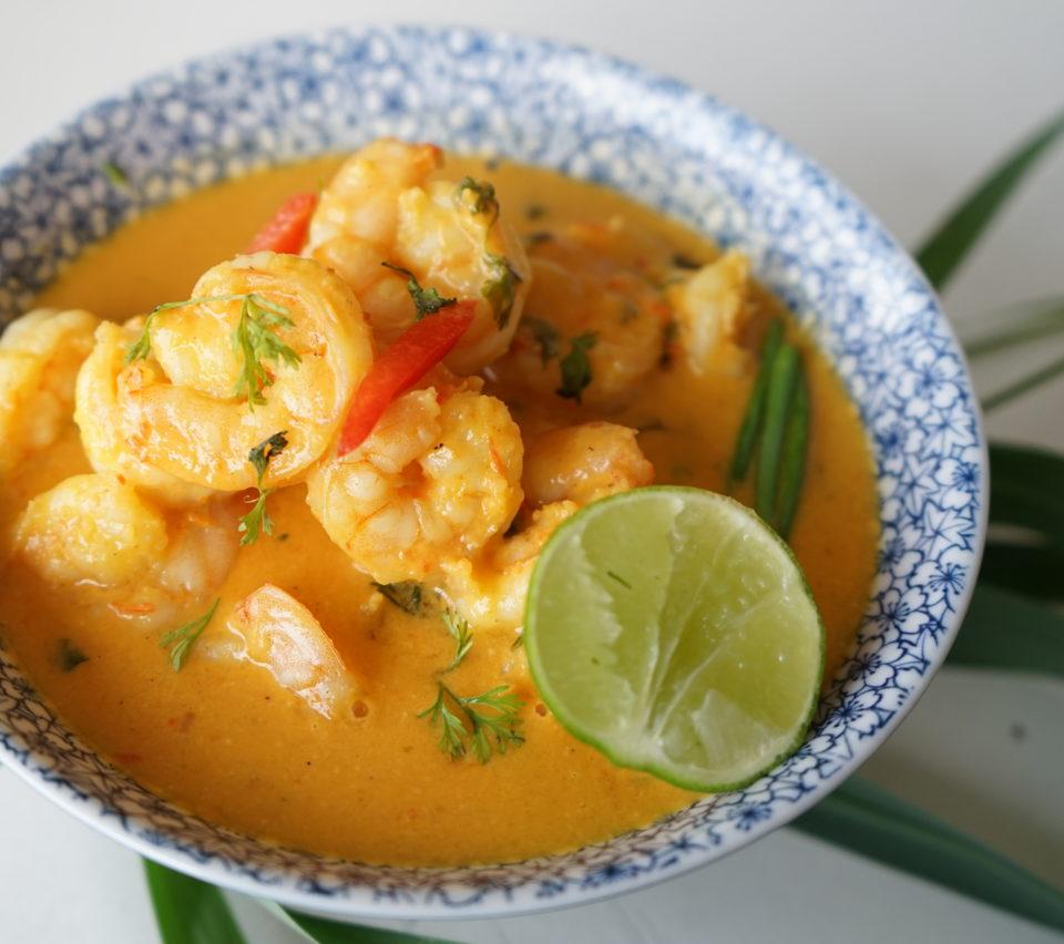 Fácil Curry de Camarón Estilo Thai